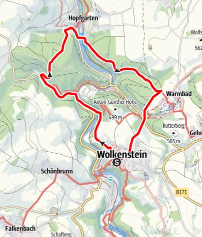 Karte / Gebirgsbach und Thermalwasser