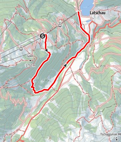 Karte / Plazadels - Gauertal