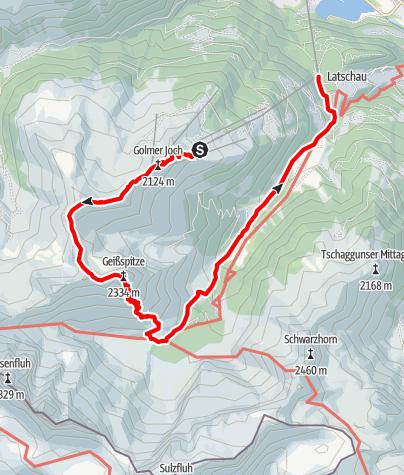 Karte / Golmer Höhenweg