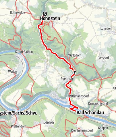 "Mapa / Handbiketour ""Durch Polenz- und Lachsbachtal"""