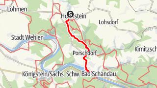"""Karte / Handbiketour """"Durch Polenz- und Lachsbachtal"""""""