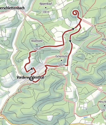 Kaart / Lindelbrunnweg