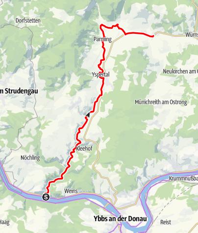 Mapa / Yspertal-Radweg