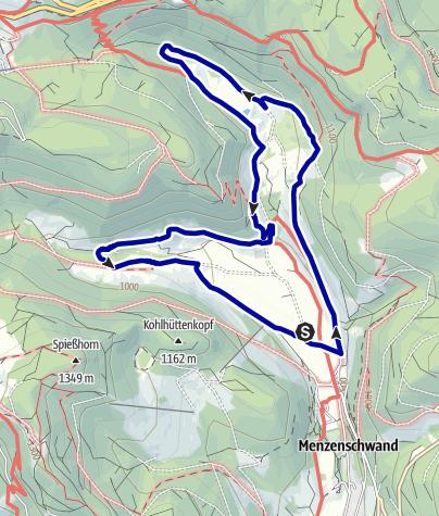 Map / Menzenschwand Goat's Trail (Menzenschwander Geißenpfad)