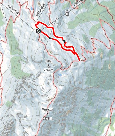 Kaart / Vier Barga (Aussichtspunkt)