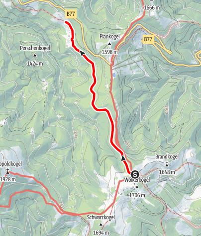 Karte / Römerweg auf der Stubalm