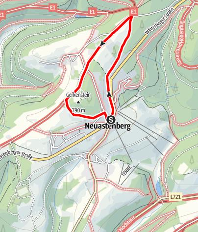 """Karte / Eine """"ganz natürliche"""" Rallye durch Neuastenberg"""