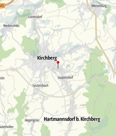 Karte / Historischer Bergbau rund um Kirchberg