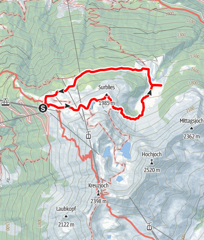 Kaart / Alpweg