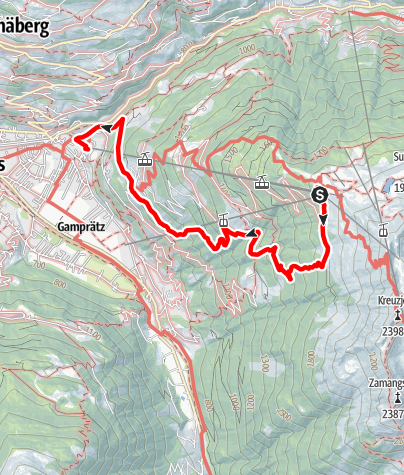 Map / Kapell - Lifinar - Schruns