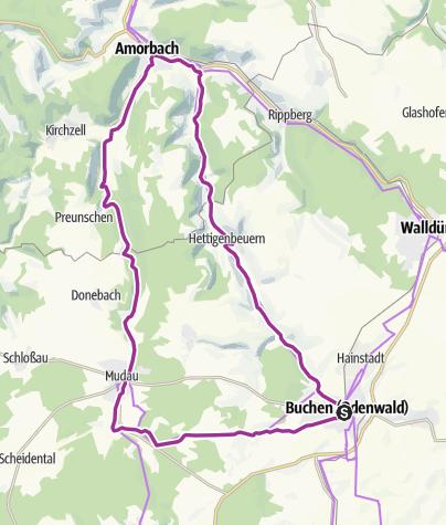 Karte / Von Buchen in den hohen Odenwald