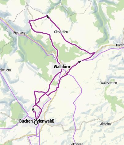 Karte / Tour zum Odenwälder Freilandmuseum Gottersdorf