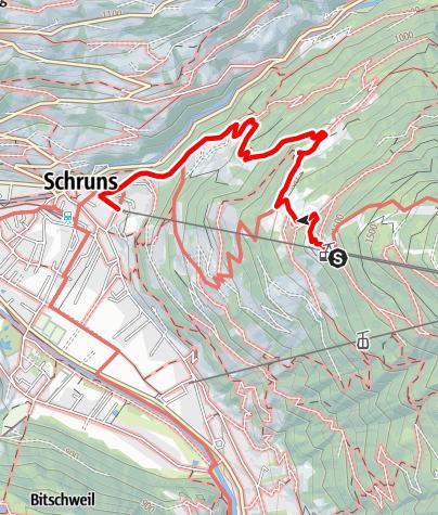 Kaart / Kropfen - Hoha - Brif - Schruns