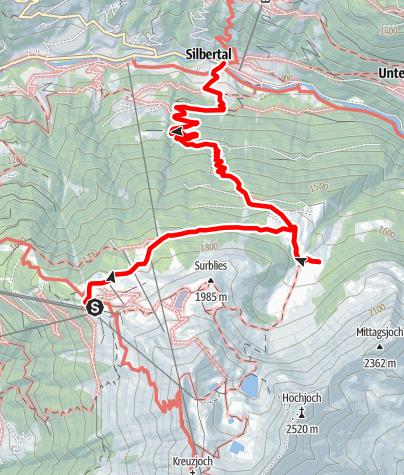 Karte / Alpwanderung Innerkapell