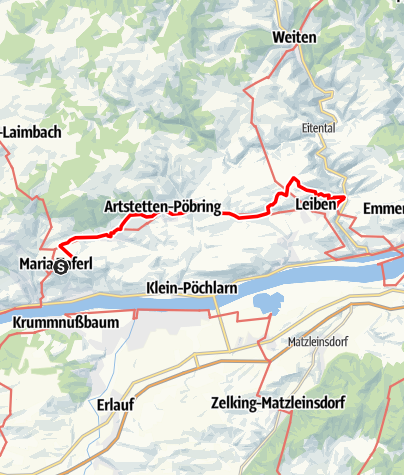 Map / Nibelungengau long distance trail 4: Maria Taferl - Leiben