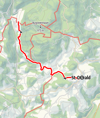 Karte / Höhenweg über Kl. Yspertal