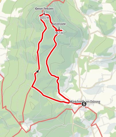Térkép / Kaiserstein-Peilstein-Rundwanderweg