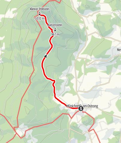 Karte / Birkenkreuz - Kl. Peilstein (direkter Aufstieg)