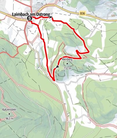 Mapa / Kälberhof - Rundwanderweg