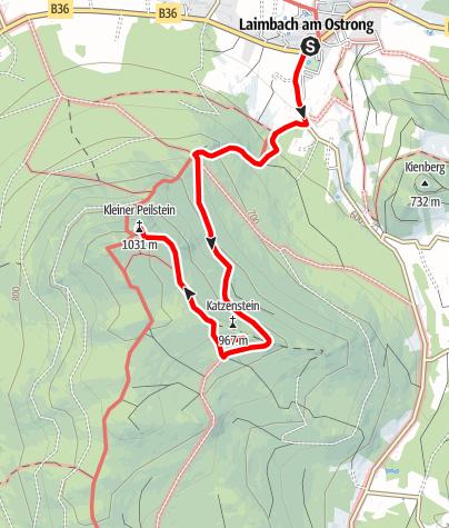 Mapa / Peilstein Gipfelerlebnis Laimbach - leichte Strecke