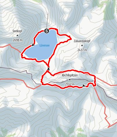 Map / Kirchlispitzen (2552 m)