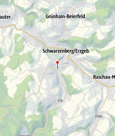 Karte / Geschäftsstelle Freie Presse Schwarzenberg
