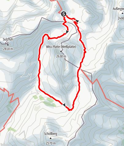 Map / Schijenflue und Weißplatte