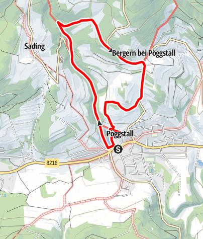 Mapa / Alte Poststraße - Pöggstall