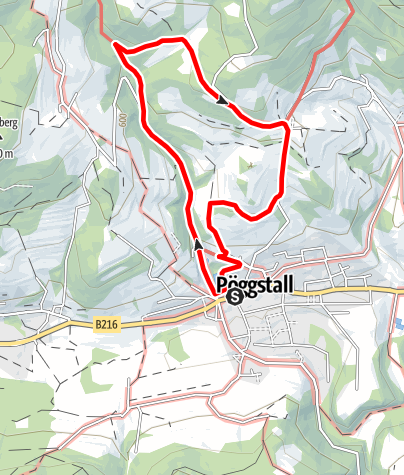 Mapa / Alte Poststraße Weg Nr. 63 - Pöggstall