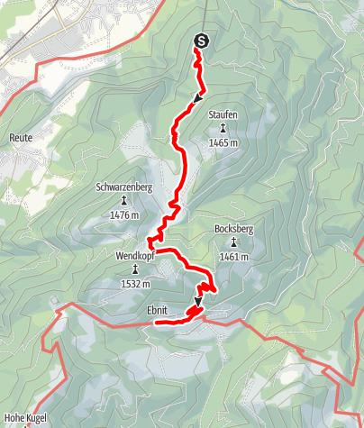 Karte / Marendwanderung ins Bergdorf Ebnit