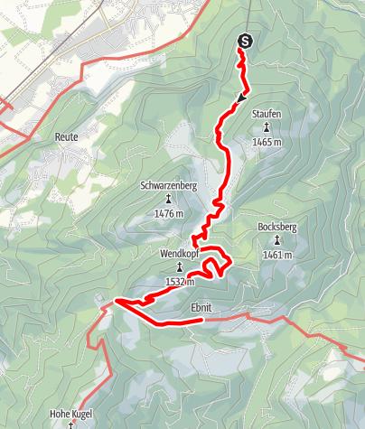 Karte / Marendwanderung ins Bergdorf Ebnit 2