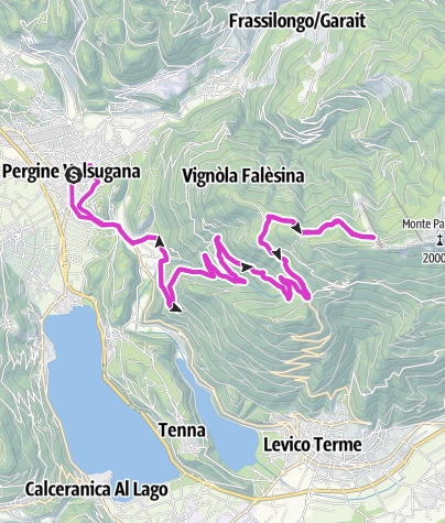 Map / Levico Terme / Pergine Valsugana - Panarotta