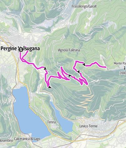 Karte / Levico Terme/Pergine Valsugana - Panarotta