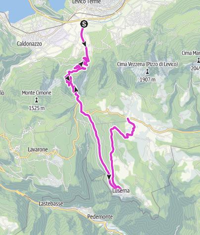 Karte / Levico Terme - Bergpass Vezzena