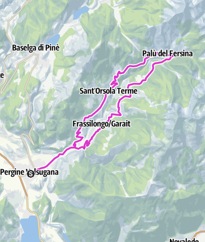 Map / Pergine Valsugana - Val dei Mocheni