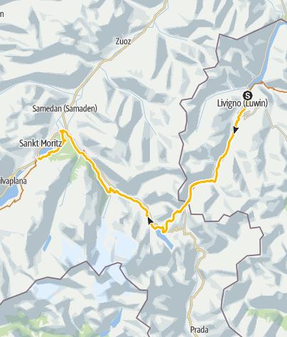 Karte / 001.03 Alpine Bike Etappe 3 Livigno - St. Moritz