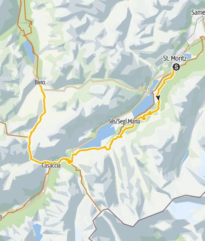 Karte / 001.04 Alpine Bike Etappe 4 St. Moritz - Bivio