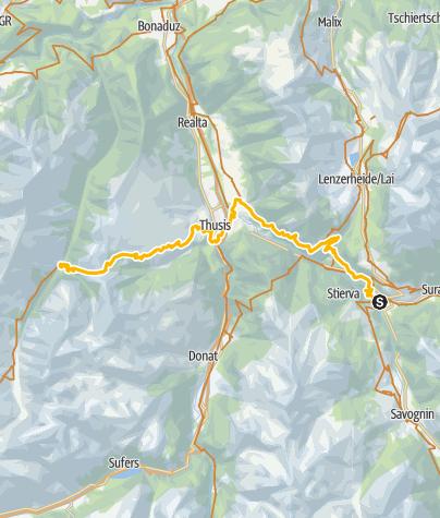 Karte / 001.06 Alpine Bike Etappe 6 Tiefencastel - Safien Platz