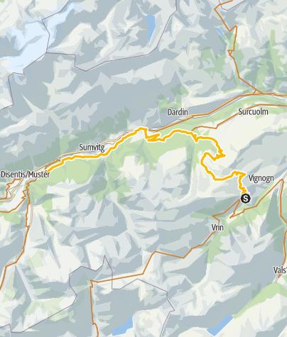 Karte / 001.08 Alpine Bike Etappe 8 Lumbrein - Disentis