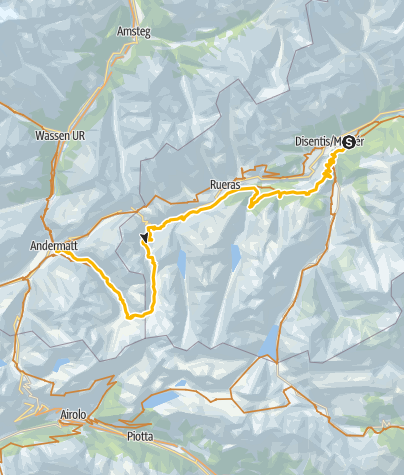 Karte / 001.09 Alpine Bike Etappe 9 Disentis - Andermatt