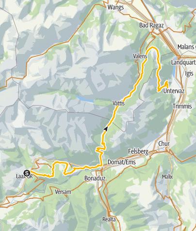 Map / 90.02 Graubünden Bike Etappe 2 Laax - Untervaz