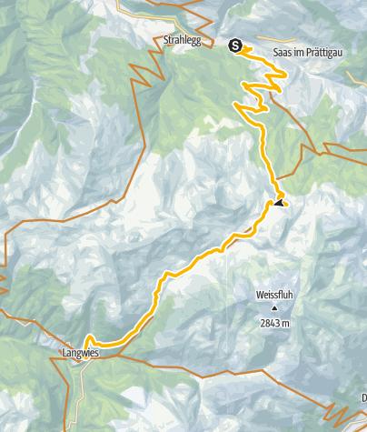 Karte / 90.04 Graubünden Bike Etappe 4 Küblis - Langwies