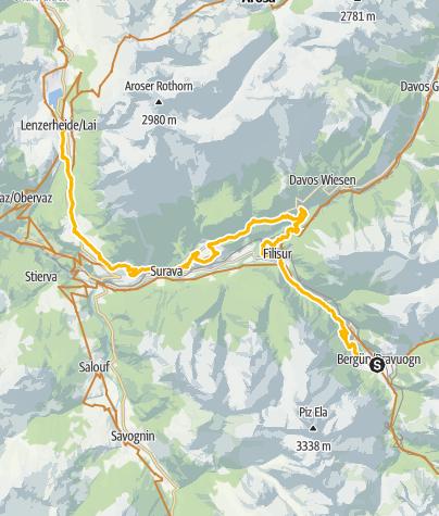 Karte / 90.07 Graubünden Bike Etappe 7 Bergün - Lenzerheide