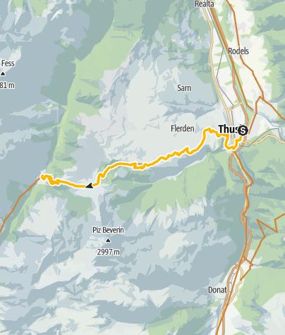Karte / 90.09 Graubünden Bike Etappe 9 Thusis - Safien Platz