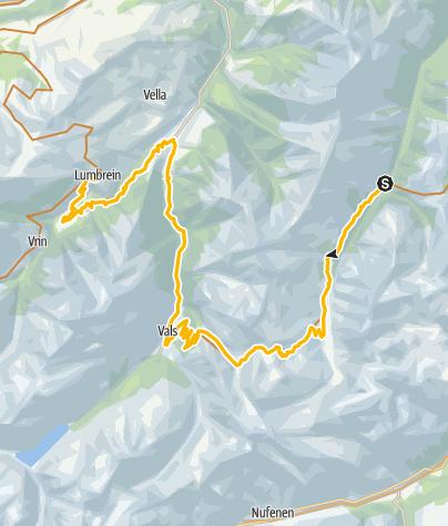 Karte / 90.10 Graubünden Bike Etappe 10 Safien Platz - Lumbrein