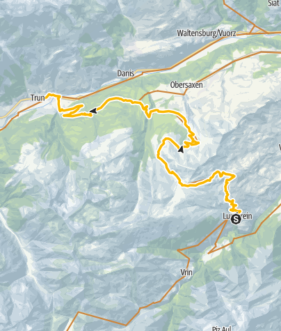 Karte / 90.11 Graubünden Bike Etappe 11 Lumbrein - Trun
