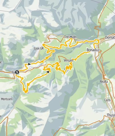 Karte / 260 Rheinschluchttour
