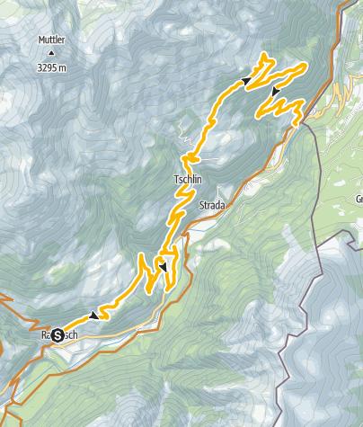 Karte / 442.03 Engiadina Bassa Etappe 3 Ramosch - Martina