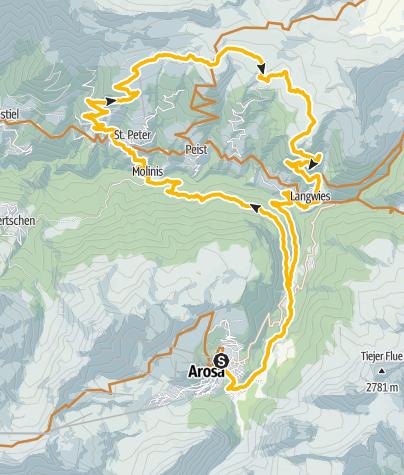 Karte / 630 Hochwang - Peisteralp