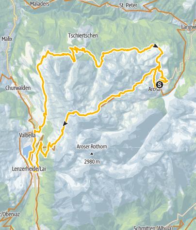 Karte / 634 Arosa Lenzerheide Rundtour